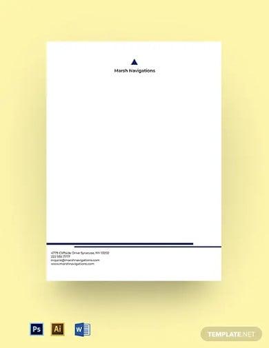 startup company letterhead template