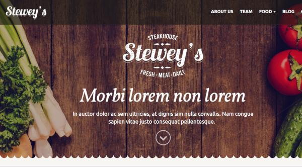 stewey's pizza restaurant wordpress theme