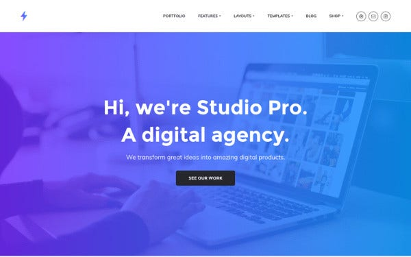 studio pro woocommerce wordpress theme