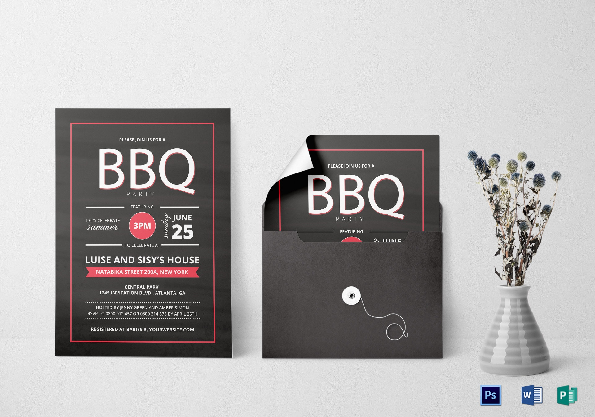 summer barbecue party invitation example