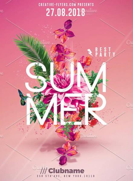 Summer Flyer Design Template