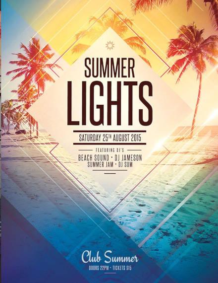 Summer Lights Flyer Example