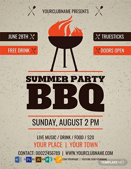 Summer Party BBQ Flyer Sample