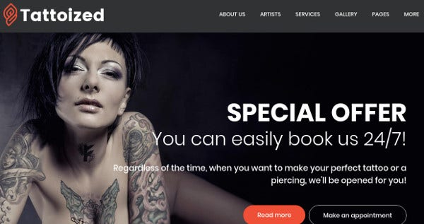 tattoized tm gallery wordpress theme