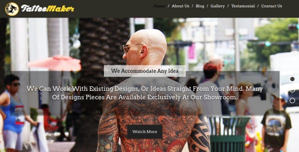 tattoomaker one page wordpress theme1