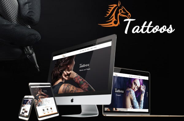 tattoos multi blog option wordpress theme