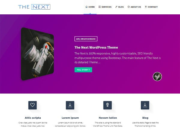 the next core fully responsive wordpress theme