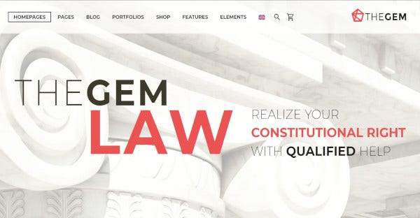TheGem – Perfect Senior Lawyer WordPress Theme
