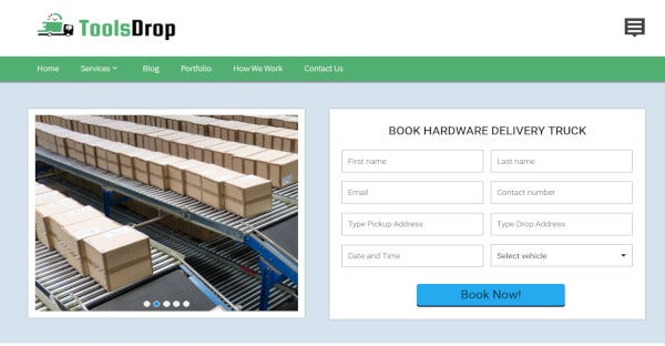 toolsdrop –wordpress theme for hardware shipping service