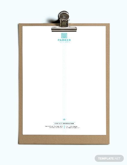 travel agency letterhead template