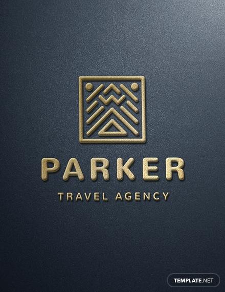 travel agency logo design template 1