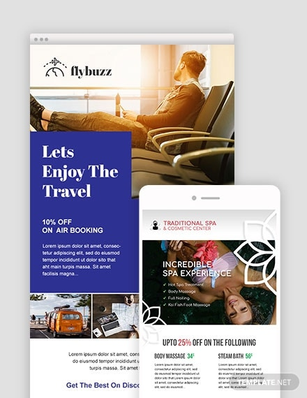 travel email ad design
