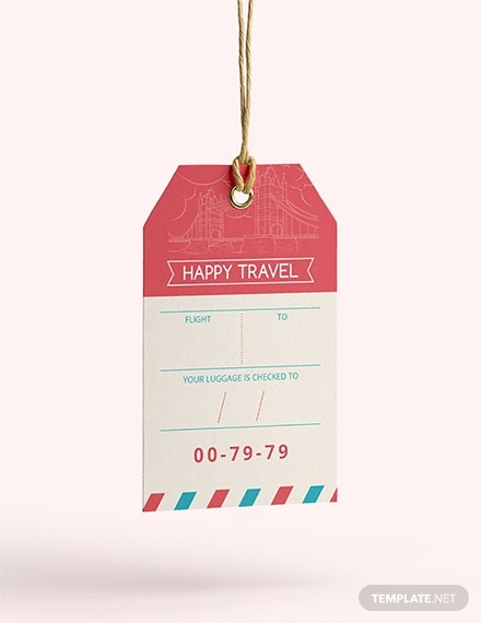 travel luggage label template