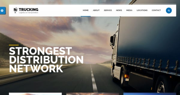 trucking multilingual wordpress template