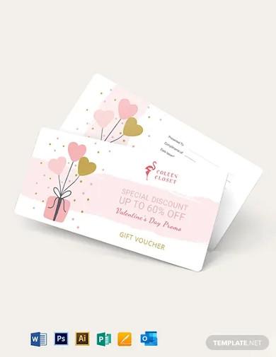 valentines gift voucher template