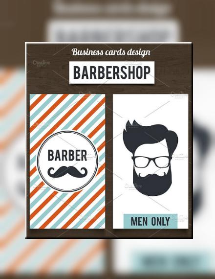 vertical barber business card template