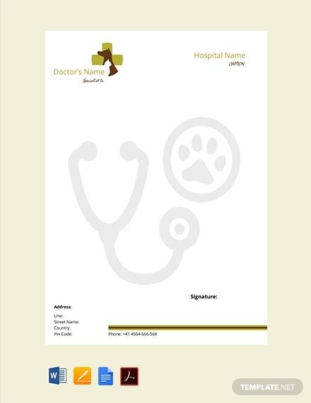 veterinary doctors prescription template