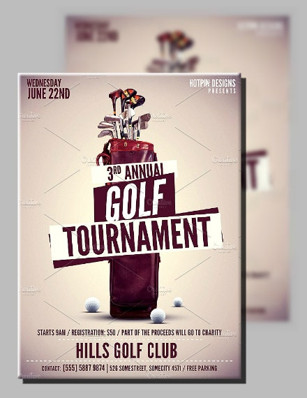Vintage Style Golf Tournament Flyer