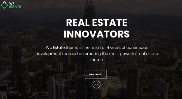 wp estate various header wordpress theme