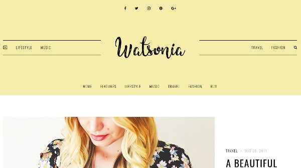 watsonia custom widgets wordpress theme