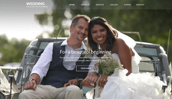 wedding band – highly effective wordpress theme