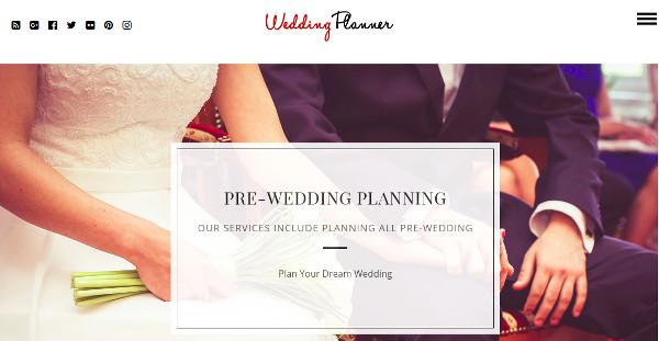 wedding planner easy option pannel wordpress theme