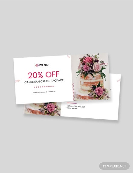 wedding planners coupon template