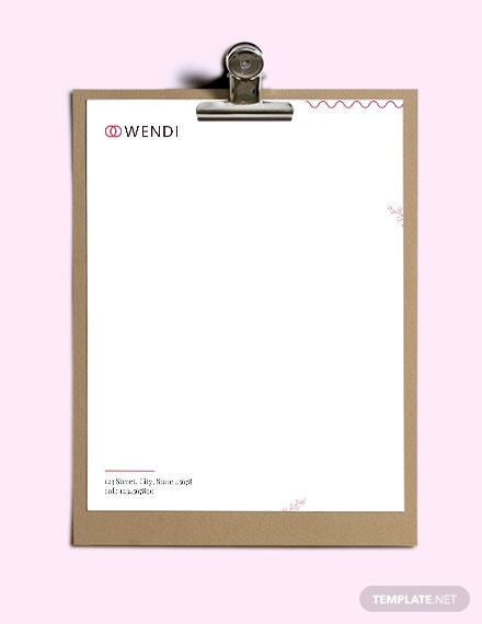 wedding planners letterhead template