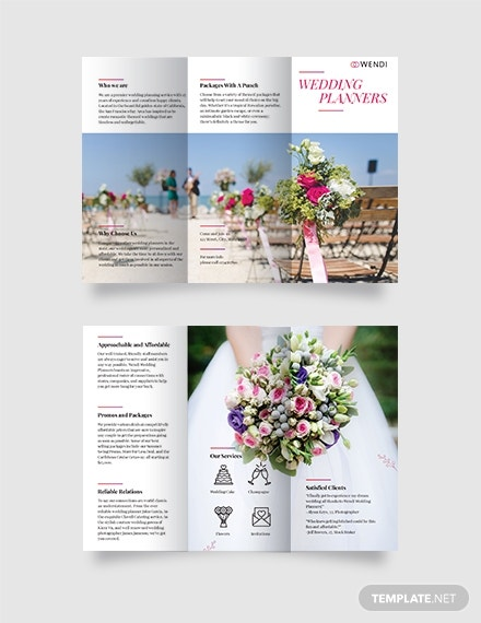 wedding planners trifold brochure format