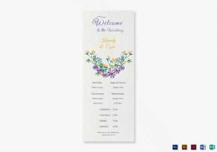 wedding program card 1