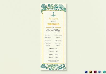wedding program card 2 1