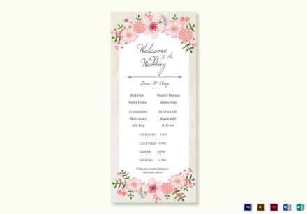 wedding program card 2