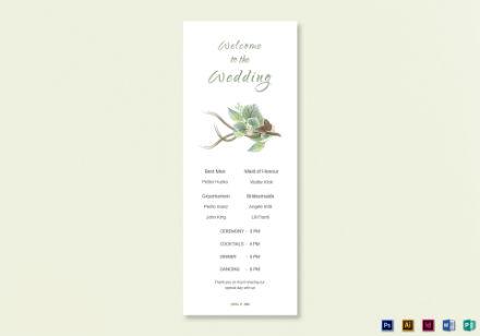 wedding program card 3