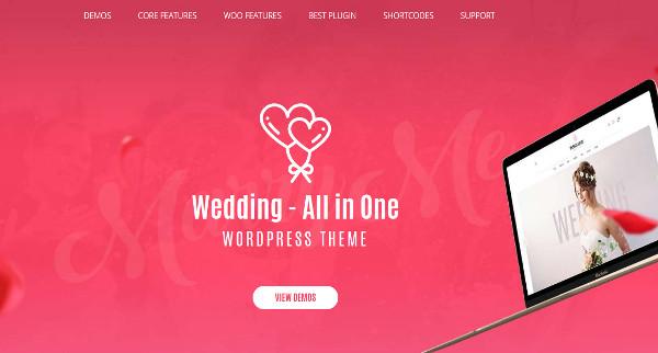 weddings – visual composer wordpress theme