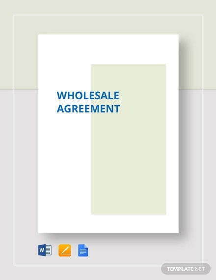 wholesale agreement template