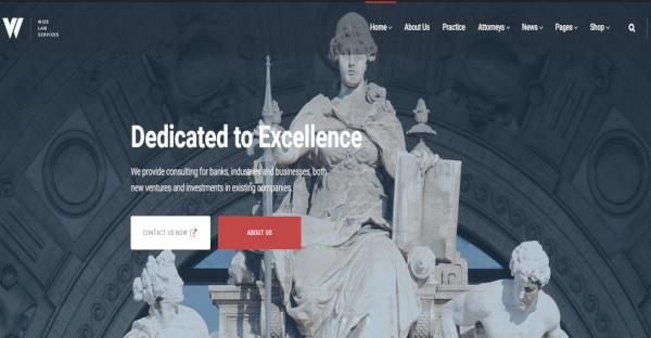 Wizelaw – Law Services WordPress Law Firm Theme