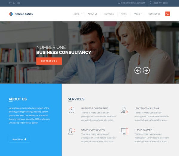 wordpress consultancy business theme