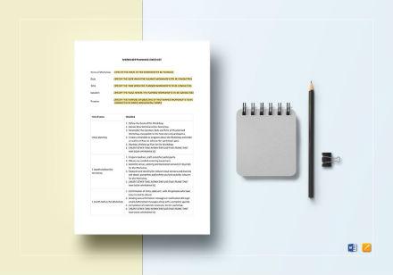 workshop planning checklist template3