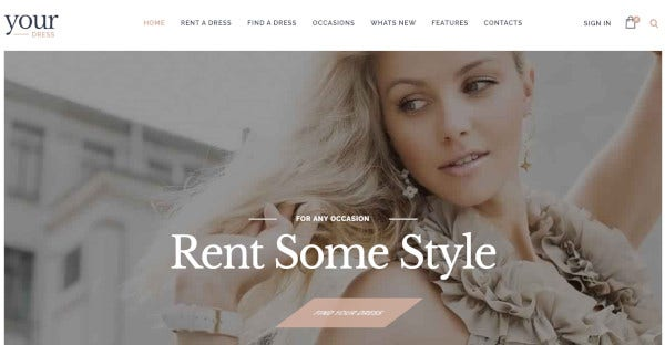 your dress feature rich wordpress theme