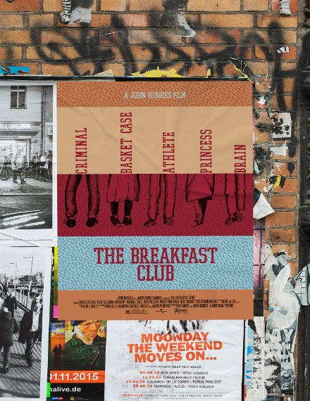breakfast club movie poster