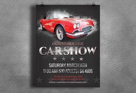 car show classic flyer
