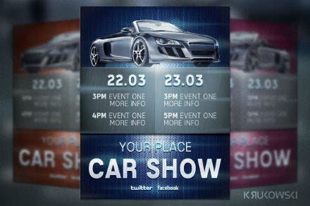 car show flyer sample