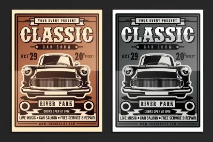 clasic car show flyer
