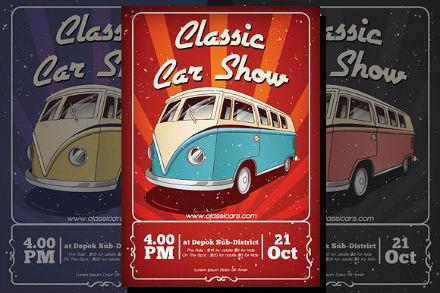 classic car show flyer