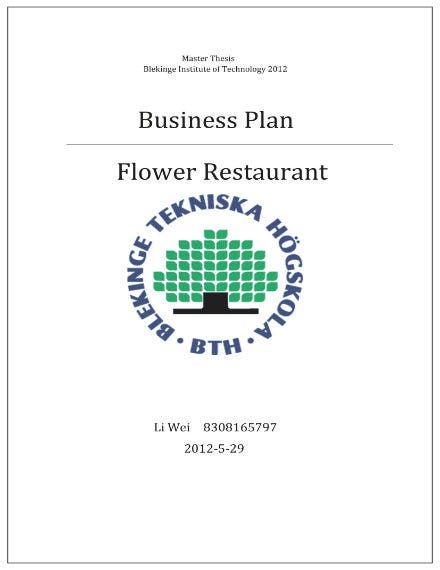 flower restaurant business plan 01