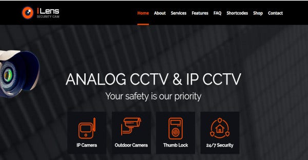 ilens cctv wordpress security theme
