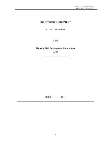 investment agreement template 01