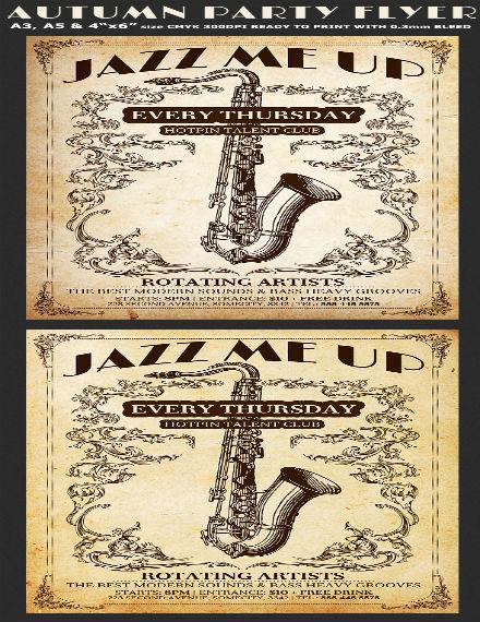 jazz flyer sample