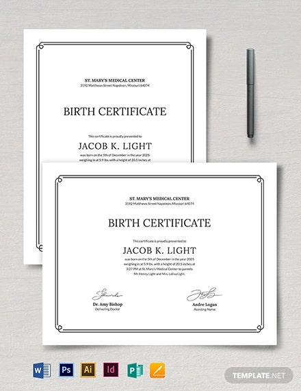 official birth certificate