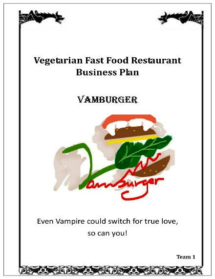 vegeterian fast food restaurnat business plan 01